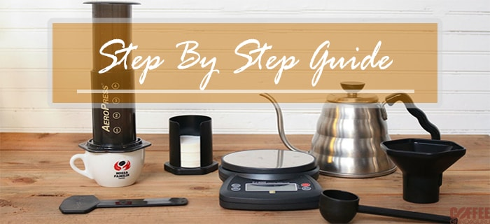 step by step aeropress guide
