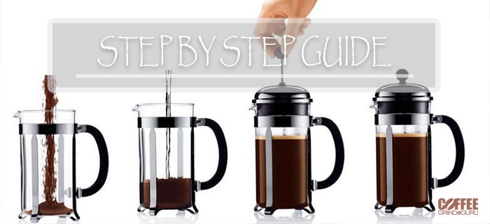 step by step french press guide