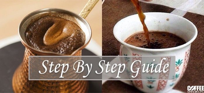 making turkish coffee step by step