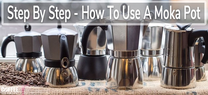making coffee in a moka pot
